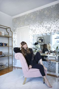 Office Envy: Parisian Style Brushed With Old Hollywood Glamour Linlee Elbert for…