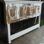 Old Door Headboard  für ein Kingsize-Bett gemacht   #woodendiy