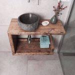 Old Wood washbasin, sink cabinet, washbasin cupboard, washbasin storage