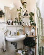 One of our favorite bathroom ideas featuring some lovely plants. Follow pêche &… – Home Decor Art