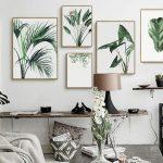 Online-Shop Aquarell Anlage Grüne Blätter Leinwand Malerei Kunstdruck Poster Bild Wand Moderne Minimalist Schlafzimmer Wohnzimmer Dekoration | Aliexpress Mobil