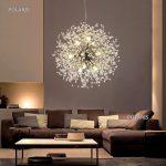 Online-Shop Moderne LED Kristall Kronleuchter Löwenzahn Beleuchtung Feuerwerk Sparkle Ball Hängen Lampe lustre Leuchte Leuchten | Aliexpress Mobil