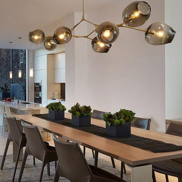 Online-Shop Shustar Moderne Verzweigung Blase 1/3/5/7/8/9 köpfe Kronleuchter für Kaffee Bar treppen Esszimmer suspension Leuchten Pendelleuchte | Aliexpress Mobil
