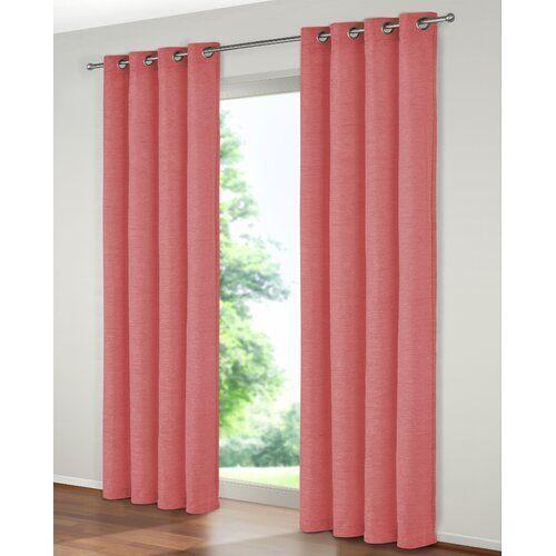 Ophelia & Co. Aldana Eyelet Room Darkening Single Curtain   Wayfair.co.uk