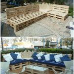 Outdoor Pallet Sectional Set / Maxi Divano Fatto Con I Pallet • 1001 Pallets