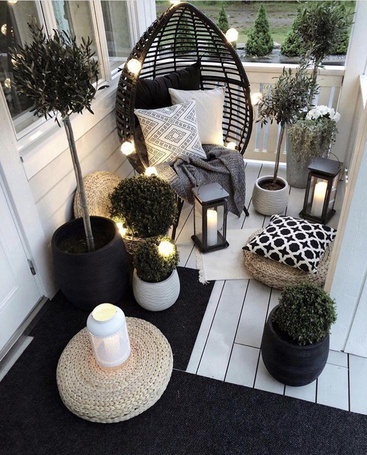 Outdoor furniture in a small space – bingefashion.com/interior