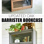 Painted Vintage Barrister Style Bookcase #palletbedroomfurniture Styled with uni...