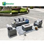Patio outdoor furniture wicker sofa set