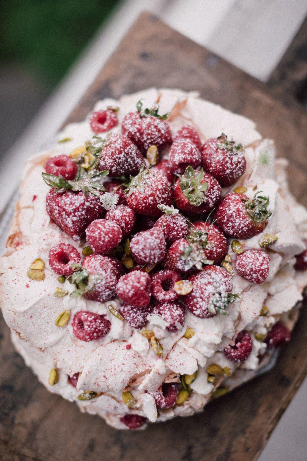 Pavlova Cake with Summer Berry Cointreau – Christiann Koepke