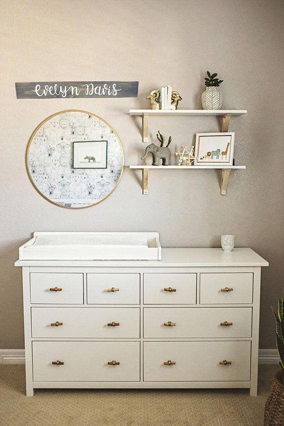 Personalized Nursery Name Sign   Child Bedroom Wall Decor   Custom Wood Name Sign   Nursery name Sign   Baby Shower Gift   Established Sign