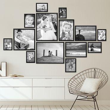 Picture Frame Set Modern Black MDF – Attic Ideas | 2019