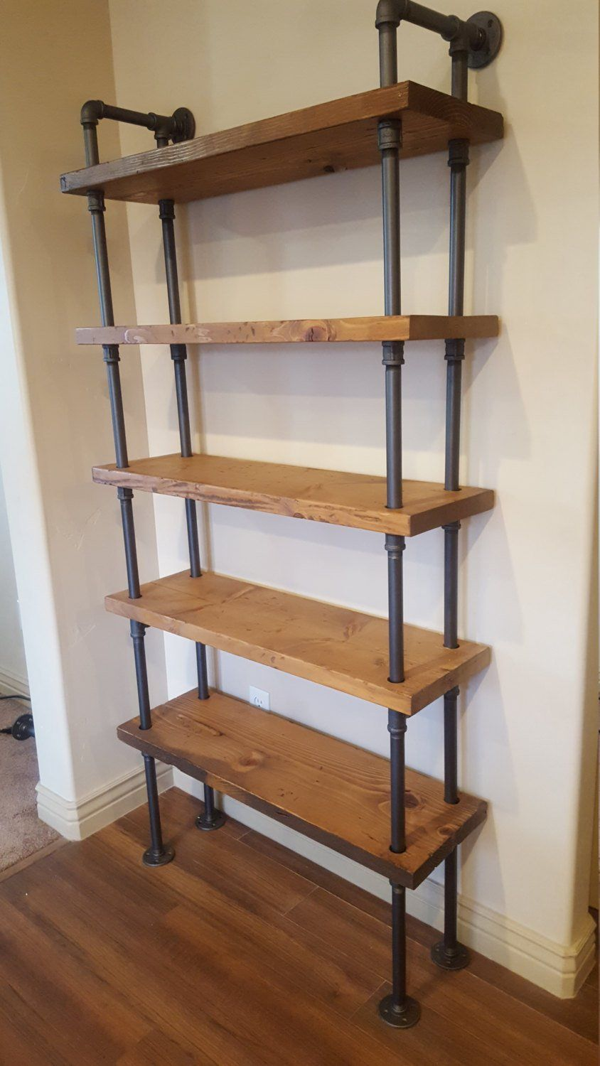 Pipe Shelving Unit / Pipe Bookcase / Industrial Book Case / Industrial Shelf / Wall Shelf