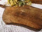 Placa de corte de madeira rústica, grande placa de pão francês, placa de madeira antiga, decoração da cozinha do país -