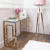 Plaza Gold Moderner Konsolentisch aus Klarglas | Picture Perfect Home   – ideas …