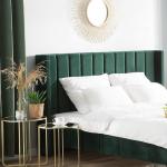 Polsterbett Samtstoff grün 160 x 200 cm VILLETTE