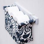 Porte-papier hygiénique décoratif – organisateur de toilette – porte-papier hygiénique – organisateur de salle de bain de style scandinave moderne avec un tissu de fleurs à la cuillère - bingefashion.com/fr