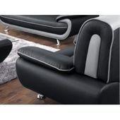 Premium Lounge Tisch aus beigem Polystyrolgeflecht, Spraystone Tischplatte …