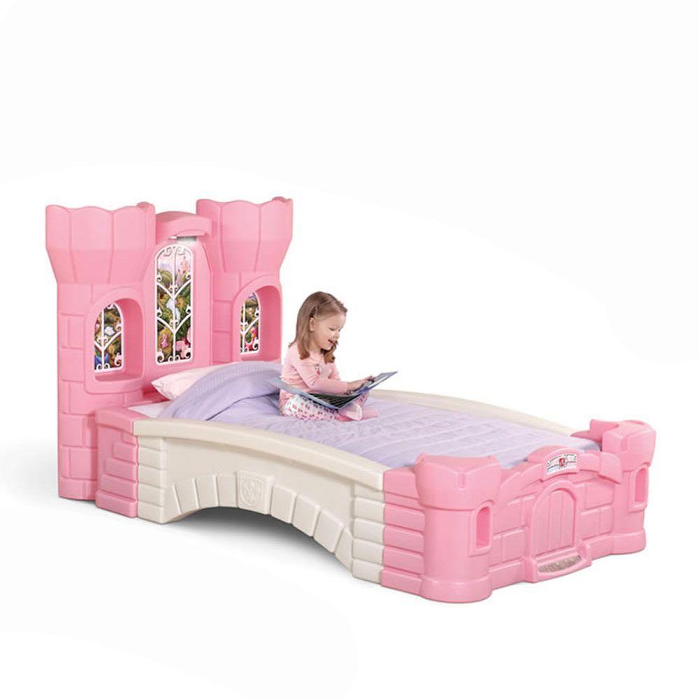 Prinzessinnen-Bett, Schloss, rosa, Kunststoff