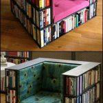 Profitez de la lecture sur cette chaise de bibliothèque bricolage #bucherregal #this #l ...