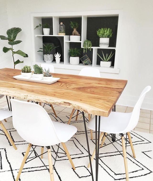 RENO Natural Solid acacia wood dining table 180cm | Struct – pickndecor.com/design