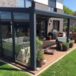 Rasenkante an der Terrasse sehr sauber - Terrasse ideen