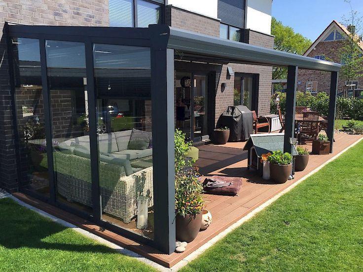Rasenkante an der Terrasse sehr sauber – Terrasse ideen