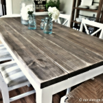 Reclaimed barn wood rustic tables
