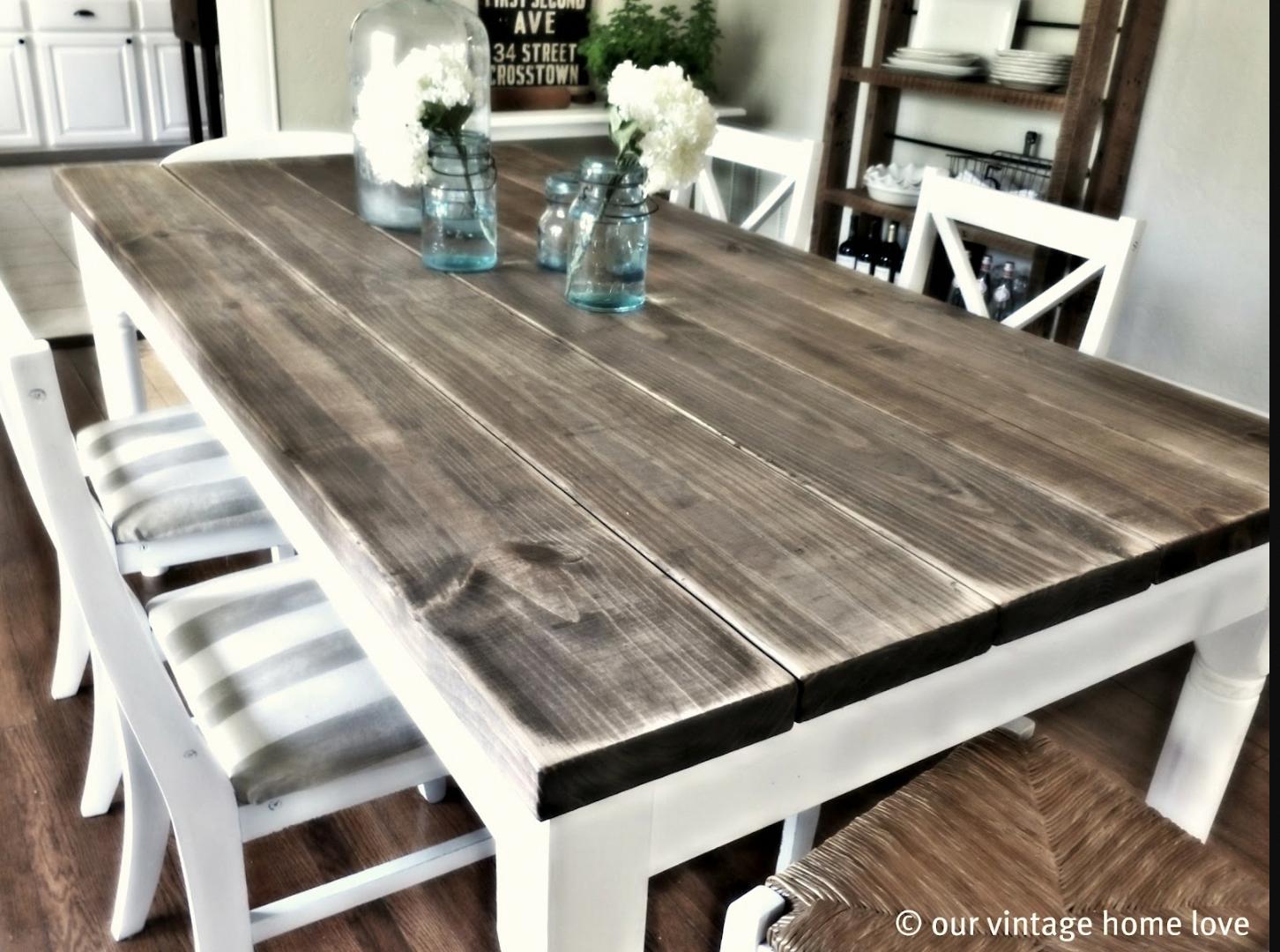 Reclaimed barn wood rustic tables