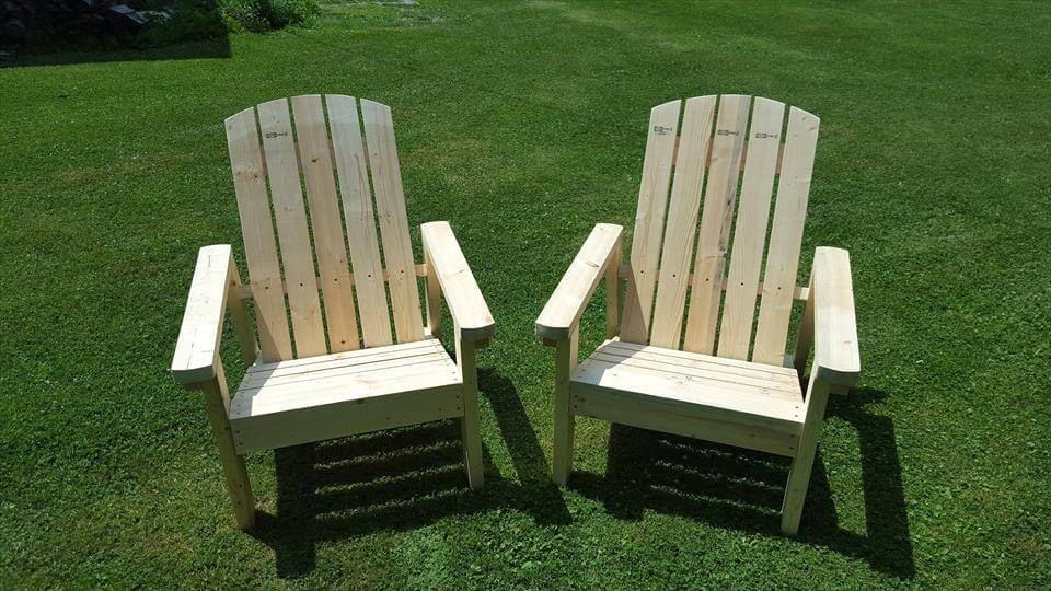 Recycelte Paletten Adirondack Stühle #recyceltepaletten Recycelte Paletten Adir… – https://pickndecor.com/haus