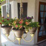 Repurpose Old Chandeliers Into Stunning DIY Chandelier Planters | 9 Ideas