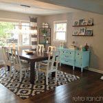 Retro Ranch Reno: geometrische Schwarzweiss-Wolldecken USA#Wohnzimmer#wohnzimmer...