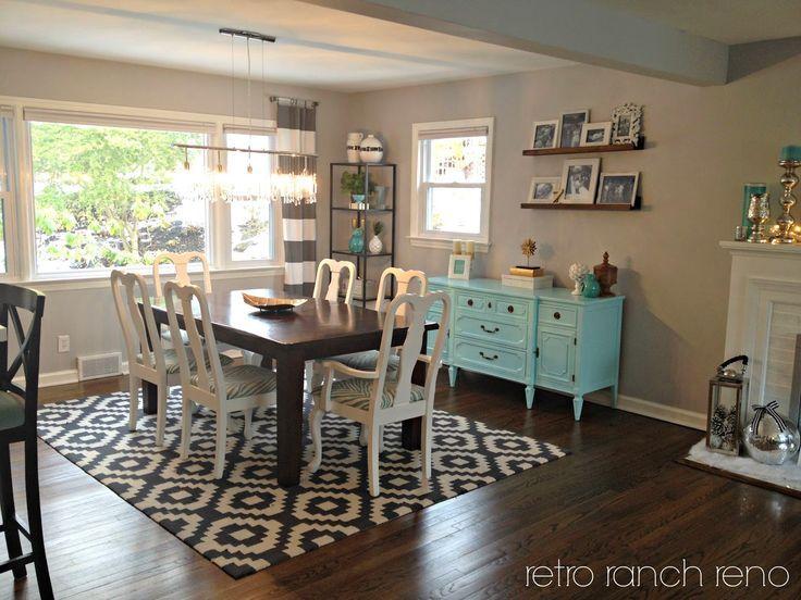 Retro Ranch Reno: geometrische Schwarzweiss-Wolldecken USA#Wohnzimmer#wohnzimmer…