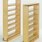 "Rev-A-Shelf 432-TF39-6C Natural Wood 432 Series 6"" Wide by 39"" Tall Upper Cabinet Filler Organizer with Five Adjustable Shelves"