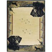 Ridgeland Hunter's Dog Mehrfarbiger Teppich aus Polypropylen  5'3 x 7'6 (Multi) …