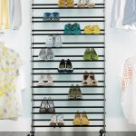 Rolling Shoe Rack @ The Container Store - can use a few of these as mobile room ...