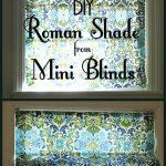 Roman Shade Tutorial – Made from Cheap Mini Blinds - worldefashion.com/decor
