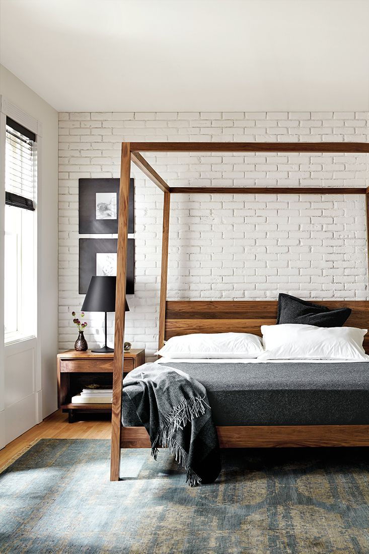 Room & Board –  Hale Wood Canopy Bed – Modern & Contemporary Beds – Modern Bedroom Furniture