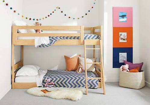Room & Board –  Waverly Kids' Mini Wood Bunk Bed – Modern Bunk Beds & Loft Beds – Modern Kids Furniture