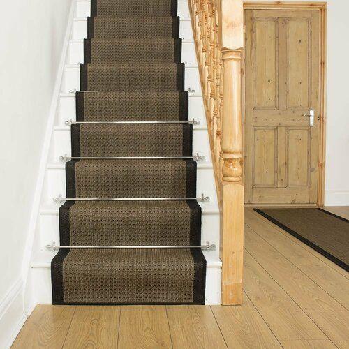 Rosalind Wheeler Almandine Flatweave Terracotta Stair Runner   Wayfair.co.uk