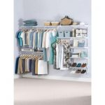 Rubbermaid 36 in. D x 72 in. W x 2 in. H Configurations Custom Metal Closet System 3 - 6 ft. White Deluxe Kit-FG3H8800WHT - The Home Depot