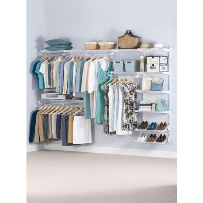 Rubbermaid 36 in. D x 72 in. W x 2 in. H Configurations Custom Metal Closet System 3 – 6 ft. White Deluxe Kit-FG3H8800WHT – The Home Depot