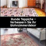 Runde Teppiche - Verbessern Sie Ihr Wohnzimmerdekor,  #Ihr #Runde #Sie #Teppiche #verbessern ...