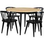 Runder Tisch in Eiche und Stahl 120 cm breit RodarioRodario