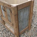 "Rustic Bathroom Vanity (60"") - Dual Sink, Reclaimed Barn Wood w/Barn Tin #9490"