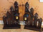 Rustikale Home Decor, Picket Zaun, Laterne, Kerzenhalter, einzeln oder set, Picket Zaun Kerze...