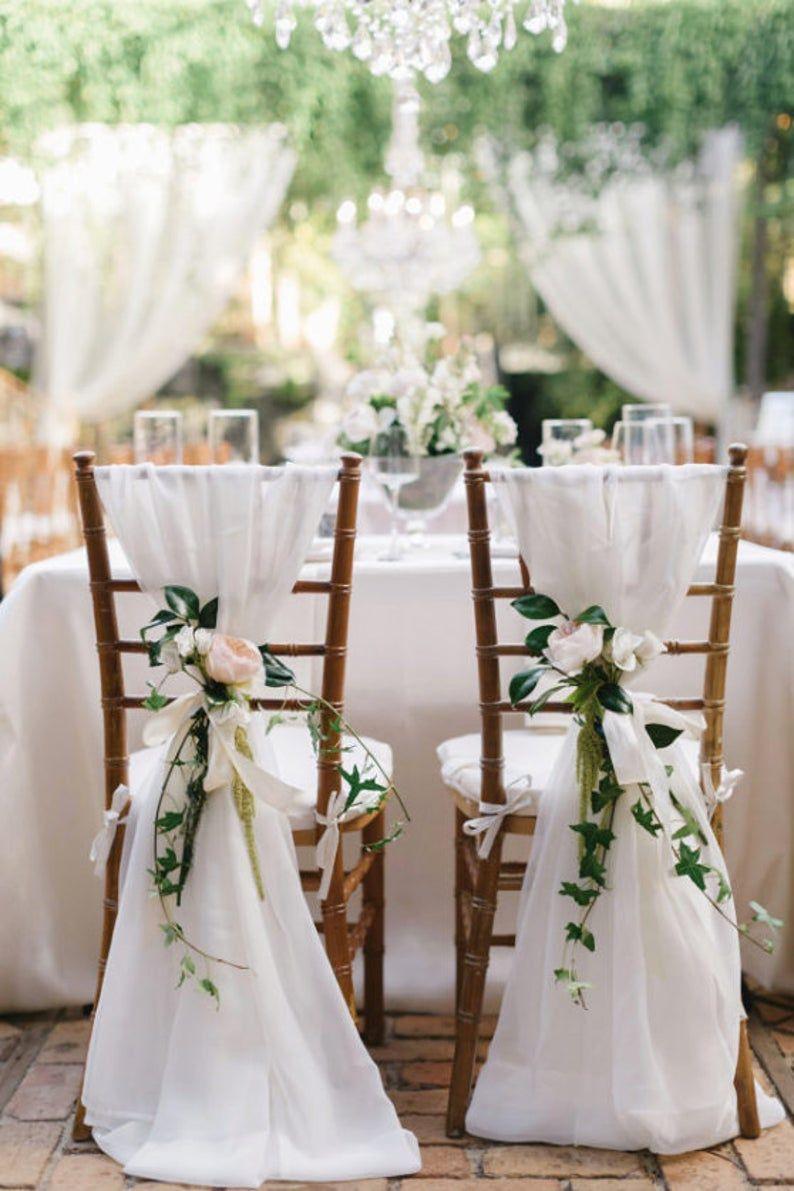 SALE 50 Chair Sashes, wedding decor, wedding, chair covers, chair sash, chiffon chair sash, wedding chair covers, chiavari chair cover, sash