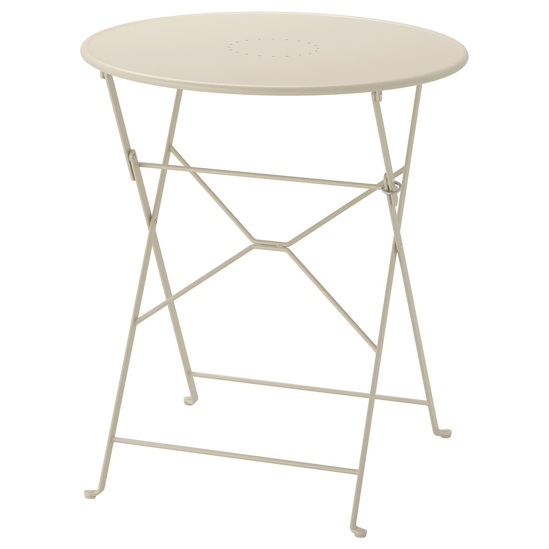 SALTHOLMEN Table, outdoor – foldable beige – IKEA