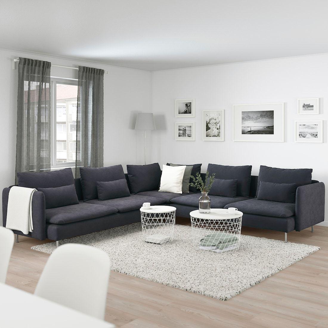 SÖDERHAMN Sectional, 5-seat – Samsta dark gray – IKEA