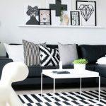 Salon noir et blanc - medodeal.com/decor