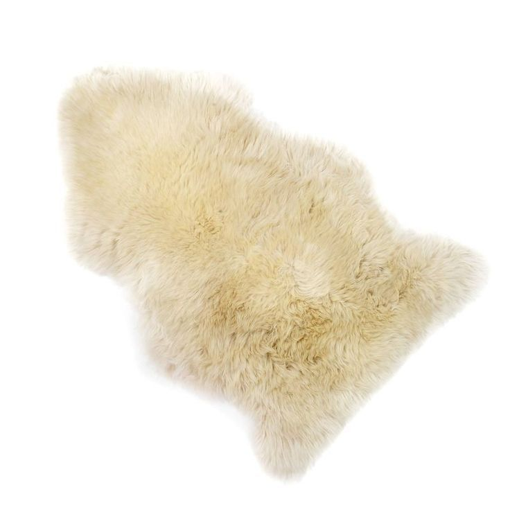 Schaffell Teppich, L: 85-89 cm x B: 50 cm, beige
